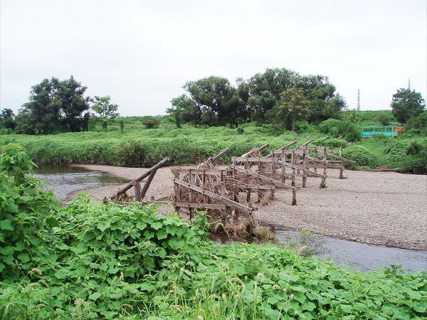 台風で流されてしまった島田橋